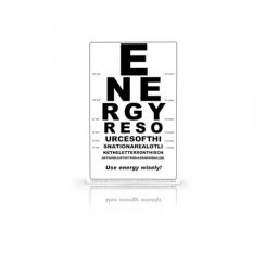Energy Eye Chart Poster