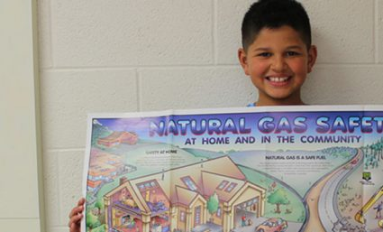 Boy identifies natural gas leak at local church after learning energy safety.